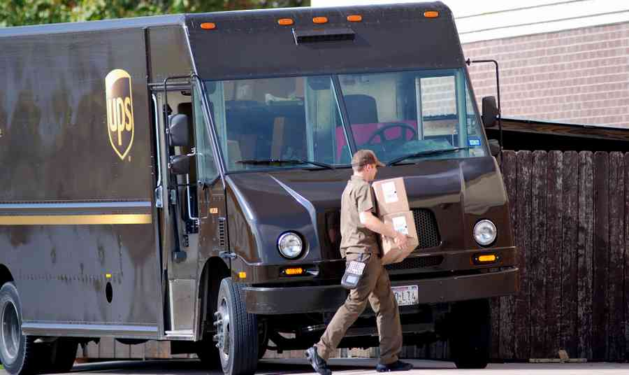 UPS Driver Delivering Packages - Brian Humek Photography